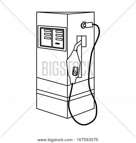 Figure gasoline pump nozzle image, vector illustration design