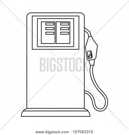 Contour gasoline pump nozzle image, vector illustration design