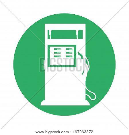 Signal gasoline pump nozzle image, vector illustration design