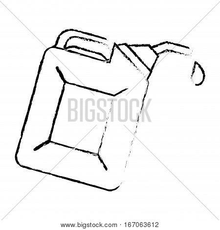 Contour Nozzle giving drop oil, vector illustration