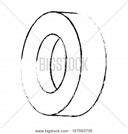 Contour tire of car icon image, vector illustration image