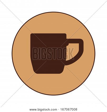 Dark brown cuppa design image, vector illustration