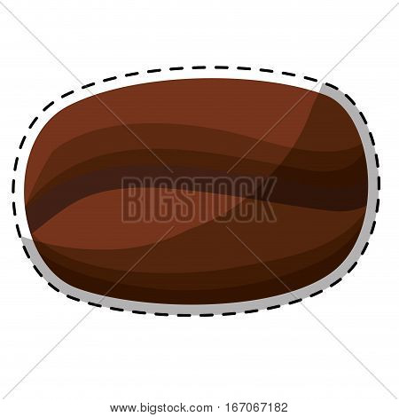 Brown big grain coffee icon design, vector illustration image