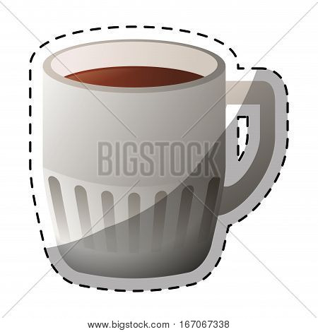 Color coffee cuppa design image, vector illustration icon