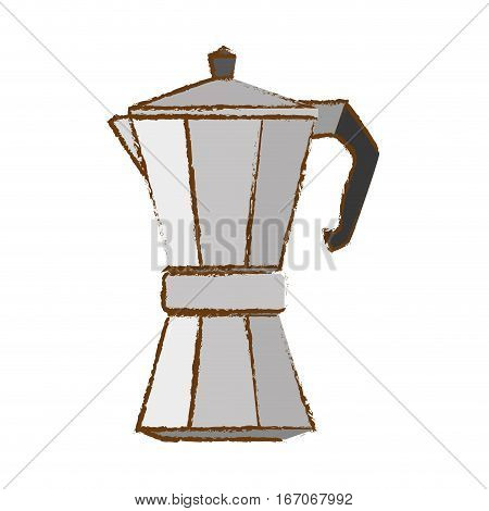 Color metail moka pot icon, vector illustration image