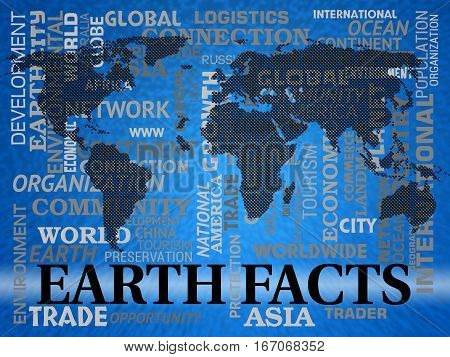 Earth Facts Shows World Info And Statistics