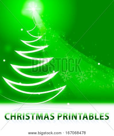 Christmas Printables Means Xmas Pictures 3D Illustration