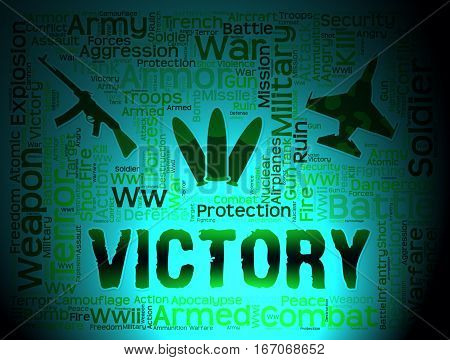 Victory Words Meaning Winning Battle And Victorious