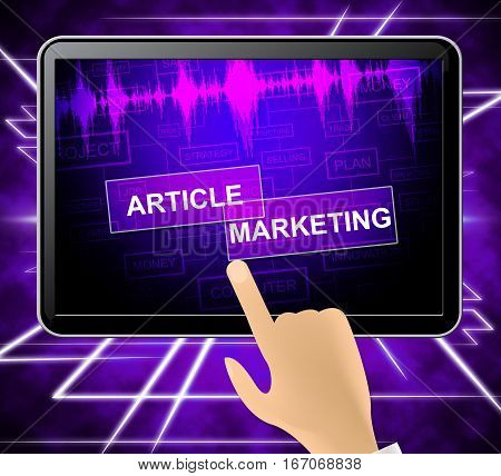 Article Marketing Shows News Information 3D Illustration