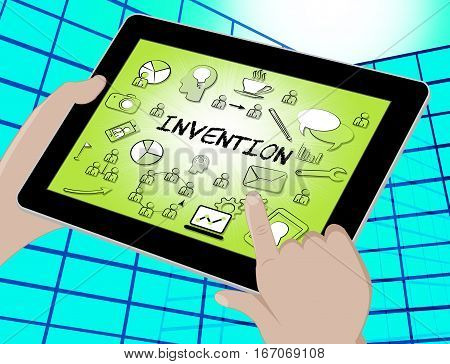 Invention Icons Means Innovating Invents 3D Illustration