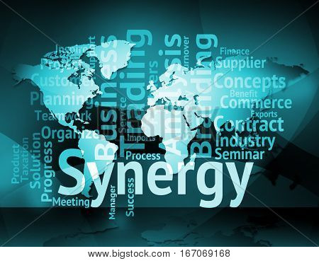 Synergy Word Meaning Working Together And Partner
