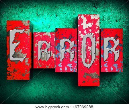 Wrong Word Displays False Bad 3D Illustration