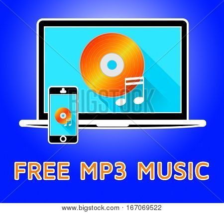 Free Mp3 Music Denotes Soundtracks 3D Illustration