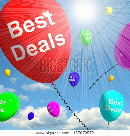 Best Deals Balloons Representing Bargains 3D Rendering