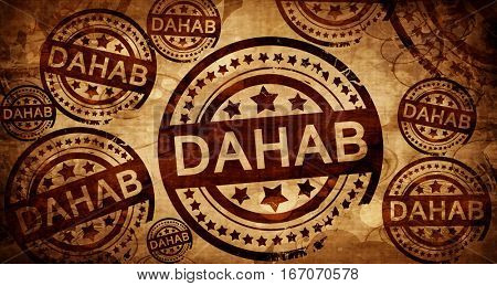 dahab, vintage stamp on paper background
