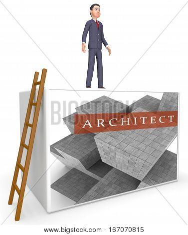 Architect Blocks Meaning Draftsman Career 3D Rendering