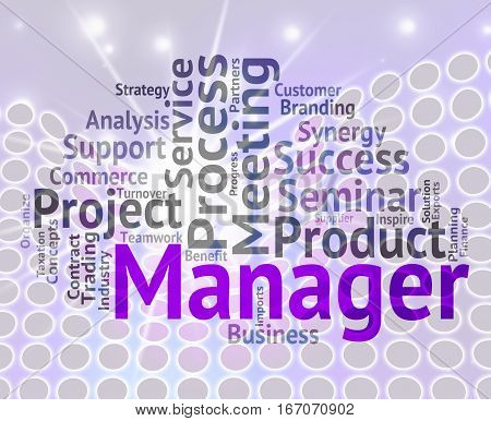 Manager Word Means Boss Director And Principal