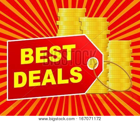 Best Deals Indicating Promotional Closeout 3D Illustration