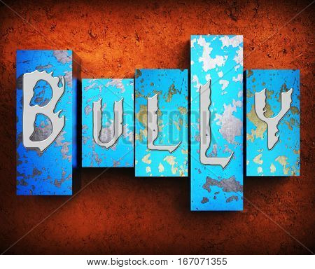 Bullying Word Shows Push Around 3D Illustration