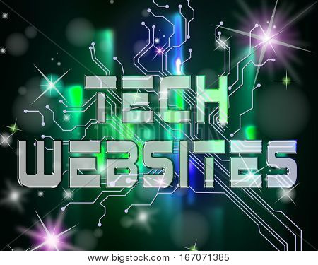 Tech Websites Showing Digital Technologies And Online