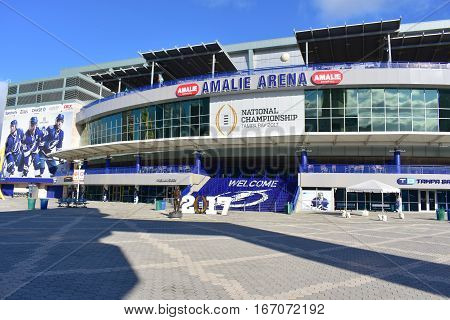 Tampa, Florida - Usa - January 07, 2017: Tampa, Florida - Usa - January 07, 2017: Amalie Arena In Ta