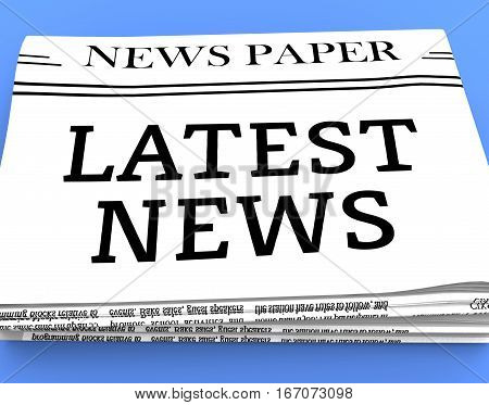 Latest News Shows Recent Newspapers 3D Rendering