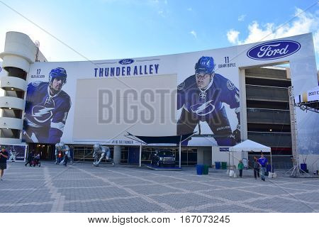 Tampa, Florida - Usa - January 07, 2017: Ford Thunder Alley