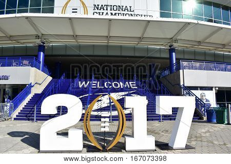 Tampa, Florida - Usa - January 07, 2017: Amalie Arena 2017 Tampa