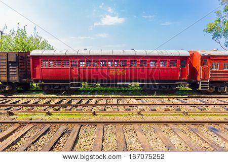Train Track Passenger Carriage Sri Lanka Railway H