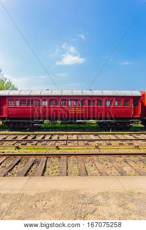 Train Track Passenger Carriage Sri Lanka Railway V