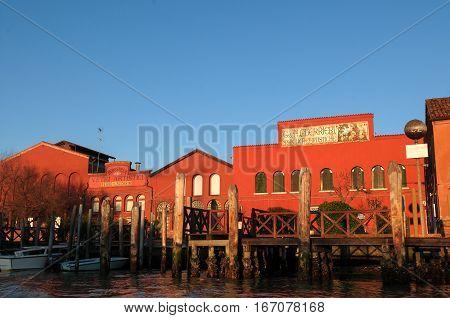 General View Of Famous Artistic Glass Factory Ferro & Lazzarini In Venice - Italy