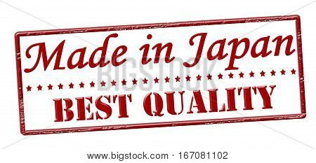 Stamp with text made in Japan best quality inside vector illustration