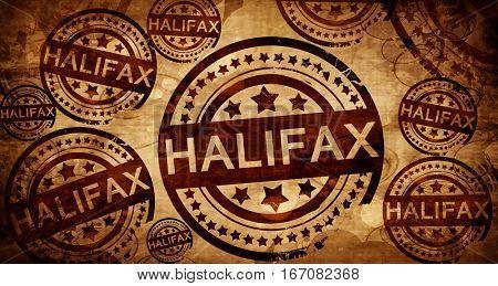 Halifax, vintage stamp on paper background