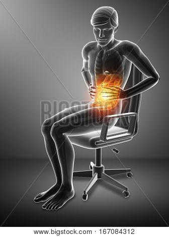 Men Feeling The Stomachache