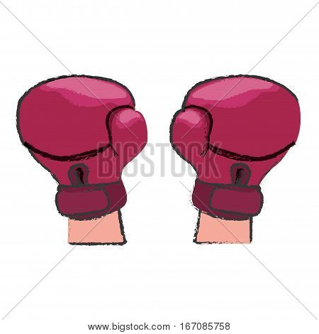 pink boxing gloves feminism related icons image vector illustration design