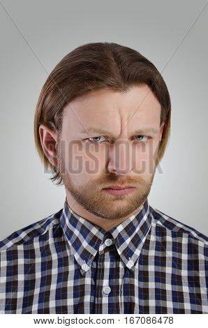 Portrait Of Man In Casual Shirt.
