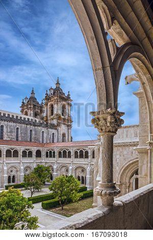 Alcobaca monastery (Mosteiro de Santa Maria de Alcobaca) is a Mediaeval Roman Catholic Monastery, Alcobaca, Portugal