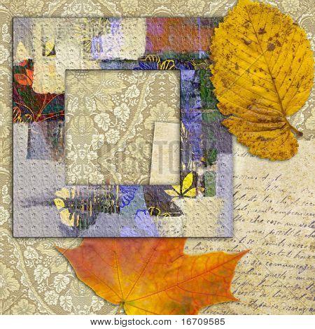 art frame on pattern paper