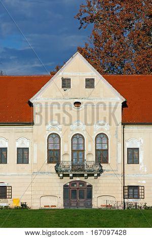 Luznica castle baroque manor located in Zapresic Croatia