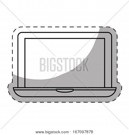 computer frontview icon image vector illustration design