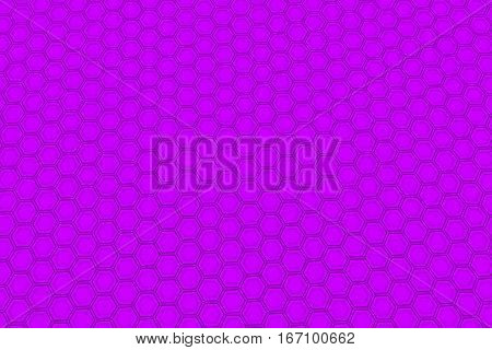 Wall Of Violet Hexagons