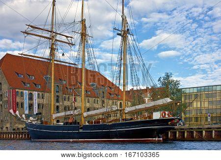 Copenhagen, Denmark - Jan 3, 2017: Yacht marina in sea port of Copenhagen