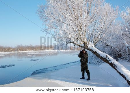 Photographer Winter Fotoplenere. Frost And Sun, A Wonderful Day