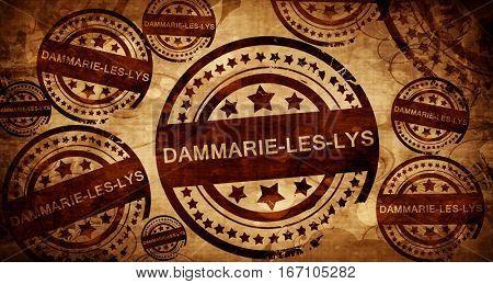 dammarie-les-lys, vintage stamp on paper background