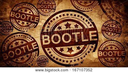 Bootle, vintage stamp on paper background