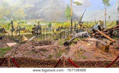 Belarus, Minsk - April 09/2015: Belarusian State Museum Of The Great Patriotic War, Invited The Visi
