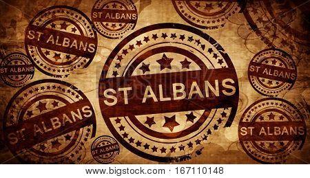 St albans, vintage stamp on paper background