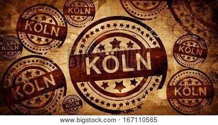 Koln, vintage stamp on paper background