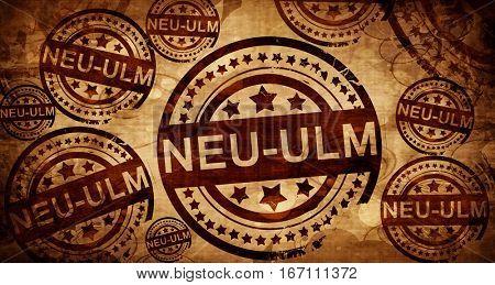 Neu-ulm, vintage stamp on paper background