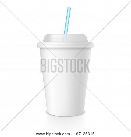 vector coffee cup isolated on white background. take away cup mock up. coffee to go